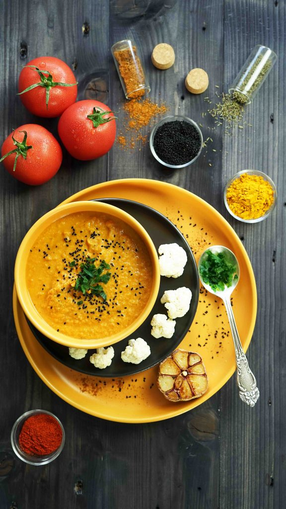 Zupa krem z pomidorów i kalafiora