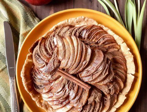 tarta z jabłkami i cynamonem bezglutenowa